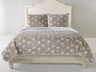 Panama Jack Sand Dollar Cotton 3 piece Quilt Set   Full Queen