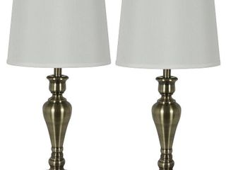 Antique Brass Marie Table lamp Set