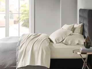 Cotton Blend 6pc Sheet Set 800 Thread Count  Queen  Ivory