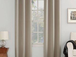 Sun Zero Kenneth Blackout Curtain Panel   Stone  Grey