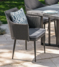 Zander Outdoor Wicker Dining Chairs  2  by Christopher Knight Home
