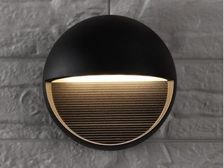 Orbe Outdoor Metal Glass Integrated lED Sconce by JONATHAN Y