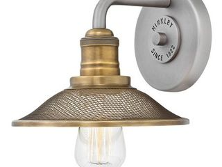 Hinkley Rigby 1 light Sconce in Antique Nickel  Retail 129 00