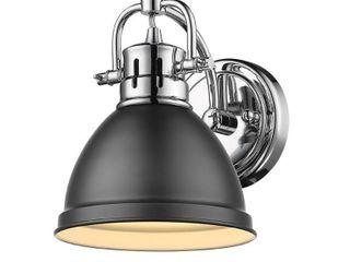 Golden lighting Duncan Aged Brass Steel 1 light Bath Vanity light