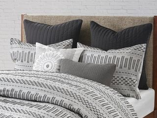 The Curated Nomad Natoma Cotton Jacquard 3 piece Duvet Cover Set  Full Queen Retail 78 97
