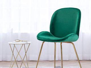Shell Shape Velvet Upholstered Dining Room Side Chair  Retail 136 49