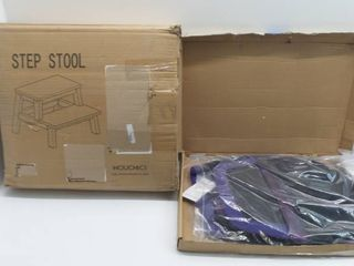 lot of 2  step stool and flymask