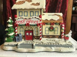 Hawthorne Village North Pole Office Authentic issue in Rudolph s Cristmans Town Village Collection Sculpture   D1048