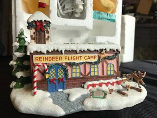 Hawthorne Village Coach Comet s Flight Camp Authentic issue in Rudolph s Cristmans Town Village Collection Sculpture   J0286