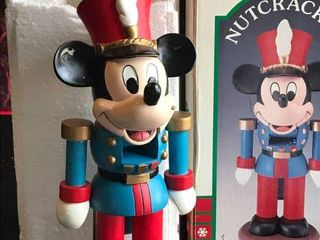 Micky Mouse Nutcraker Wood Sculpture