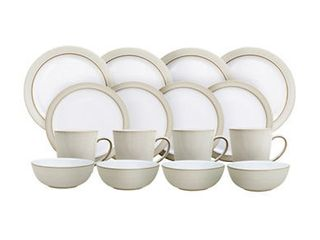 Denby Natural Canvas Dinnerware Collection 16 Pc  Dinnerware Set  Service for 4