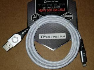 Titanium heavy duty USB cable