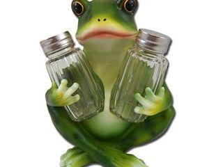 lily Pad Cafe Frog Salt   Pepper Shaker