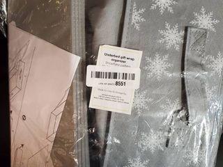 Underbed gift wrap organizer