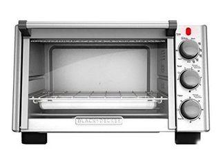 Black   Decker   6 slice Toaster Oven   Silver