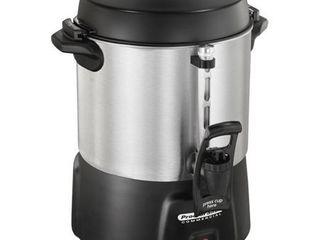 Proctor Silex   40 Cup Coffee Urn   Brushed Aluminum Black
