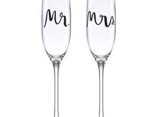 kate spade new york Bridal Party Mr    Mrs  Flute Pair