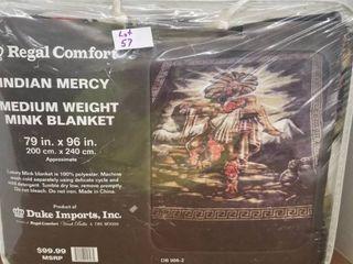 Native American Mercy luxury Mink Blanket
