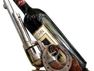 Double Gun Wine Bottle Holder