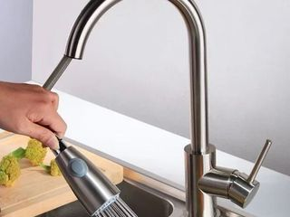 Pull Out Chrome Spray Swivel Kitchen Faucet w  Mixer Tap