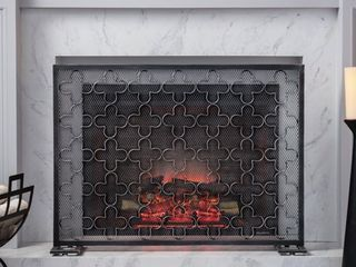 Alleghany Modern Single Panel Fireplace Screen by Christopher Knight Home  Retail 128 99