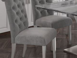 Inspire Chloe Side Chair  Set of 2  Grey