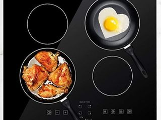 Empava 24 in  Electric Induction Cooktop with 4 Boost Heating Elements 240V  Retail 399 99