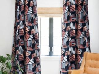Mareike Boehmer Dots and lines 1 Strokes Blackout Curtains Panel  Retail 88 49