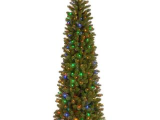 6 5 ft  Downswept Douglas Slim Fir Tree with Dual Color lED lights   6 5ft  Retail 235 99