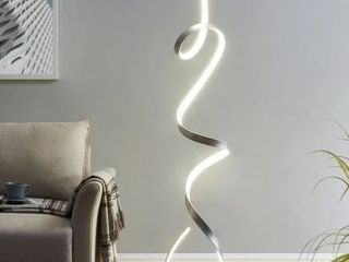 Silver lED Amsterdam Floor lamp  5 ft Tall  Retail 382 49