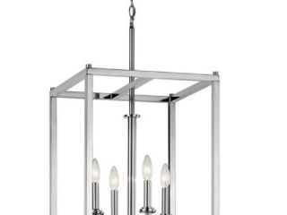 Silver Orchid Gish 4 light Chrome Foyer Pendant  Retail 242 99