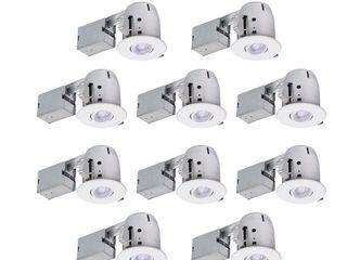 Globe Electric 4 Inch Recessed lighting Kit Combo Pack 10 Pack  White
