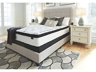 Signature Design by Ashley Chime 12 inch Hybrid Queen Mattress   Retail 335 00