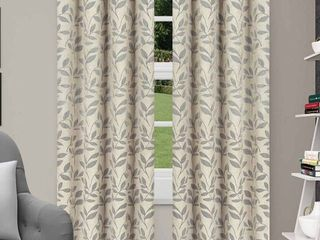 Impressions Grafton leaves Textured Blackout 2 Piece Curtain Set with Grommet Top Header