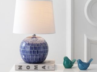 Ronald 21 inch Ceramic lED Table lamp  Navy by JONATHAN Y  Retail 76 98