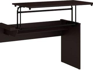 Bush Furniture Cabot 42W 3 Position Sit to Stand Desk Return in Espresso Oak