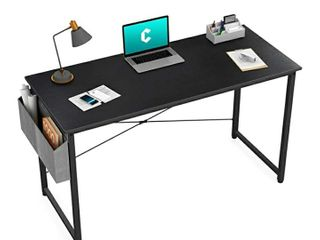 Cubiker Writing Computer Desk 39  Home Office Study Desk  Modern Simple Style laptop Table with Storage Bag  Black