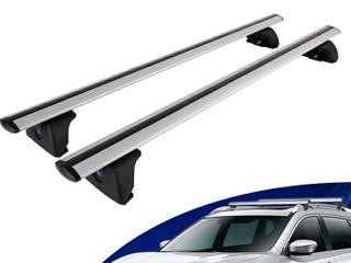 IRONWAllS 2PCS Universal Roof Racks Crossbars Cargo load Bars Aluminum Alloy Silver  150lBS 68KG load Capacity