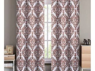 VCNY Home london Damask Printed Blackout Grommet Top Window Curtain Panel   Set of Two  Multiple Sizes and Colors Available