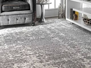 12 Ft x 15 Ft   nulOOM Misty Shades Deedra Grey Area Rug   Fresh   of the moment  contemporary rug  Add the right amount of chic to your space