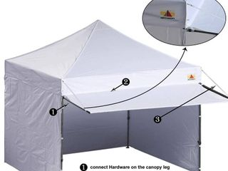 ABCCANOPY Canopy Tent 10  x 10  Pop up Instant Shelter   Commercial Portable Market Canopy w  Matching Sidewalls  Weight Bags  Roller Bag    Canopy Awning  Model  DElUXE