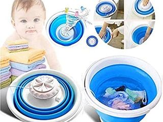 Mini Washing Machine  Portable Personal Rotating Ultrasonic Turbines Washer with Foldable Tub USB Convenient laundry for Camping Apartments Dorms RV Business Trip