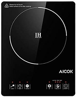 Aicok Portable Induction Cooktop 15 Temperature Power Setting  Waterproof  Hot Plate with lCD Sensor Touch  with Safety lock  Timer