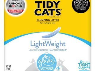 Purina Tidy Cats lightweight Clumping Cat litter with Glade Tough Odor Solutions   17lbs