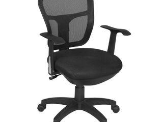 Harrison Swivel Chair Black   Niche