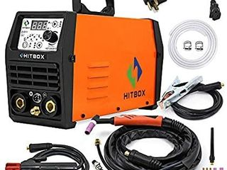 HITBOX TIG Welder Pulse 200A 110 220V Dual Volt Inverter IGBT Stick TIG Digital TIG200P Welder Welding Machine