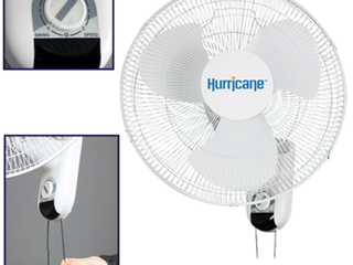 Hurricane Classic 16 Inch Wall Mount Oscillating Fan