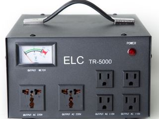 ElC 5000 Watt Voltage Transformer Converter with Builtin Regulator   Step Up Down   110V 220V   Circuit Breaker Protection