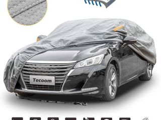 Tecoom HD Super Breathable Waterproof Windproof Snow Sun Rain UV Protective Outdoor All Weather Car Cover Fit 170 190  length Sedan
