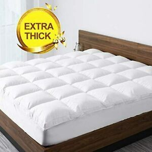 Starcast Sleep Solution Extra Thick Mattress Topper  Queen Size Cooling Cotton Plush Down Alternative Fill Mattress Pad Cover Gel Fiber Filled Bed Pillowtop Deep Pocket 8 21Inch  and SfAVEreak